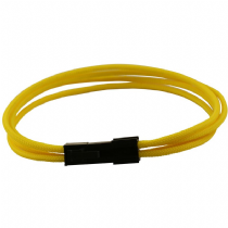 4 Pin ATX Yellow Braided Male to Female Power Extension Cable